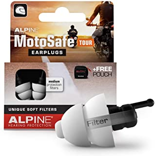 Alpine MotoSafe Tour Reusable Ear Plugs – Motorcycle Ear Plugs – Noise Reduction..