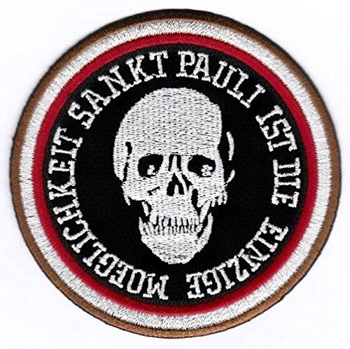 St Pauli Aufnäher/Bügelbild/Abzeichen/Iron on Patch St Pauli ist die einzige Moeglichkeit
