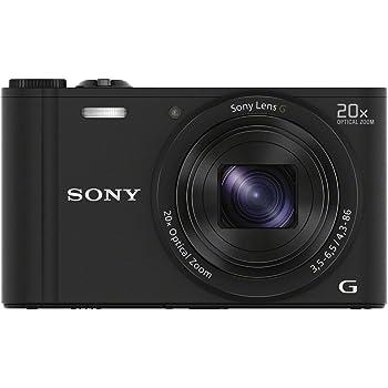 Sony DSC-WX350 Appareils Photo Numérique, Capteur CMOS Exmor R, 18.2 Mpix, Zoom Optique 20x - Noir