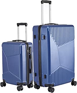 Luggage Sets 2 Pieces Suitcase with Spinner Wheels Hardshell Lightweight luggage Travel 20in 28in (Blue)