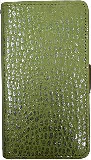 【Happy Smile】 FUJITSU ARROWS X LTE F-05D docomo 手帳型 スマホ ケース カバー 本革 横 グリーン 系色