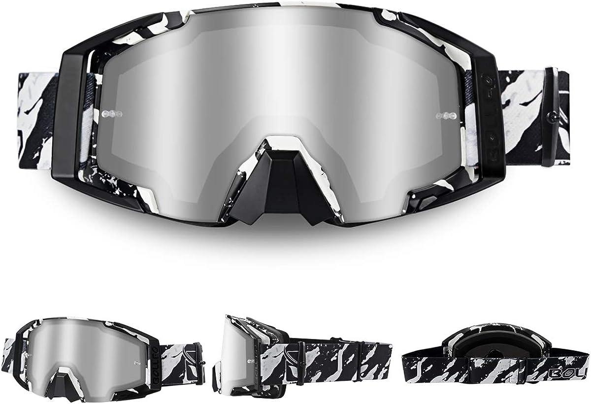 WholeFire Gafas de motocicleta, ATV Dirt Bike Off Road Racing MX Riding Goggle, UV400 Ciclismo Motocross gafas para deportes al aire libre