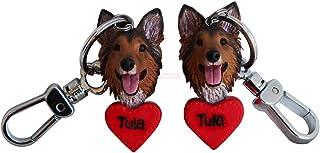 Best Friend Portachiavi Cucciolo di cane Anello portachiavi per donna Uomo Regali per bambini Portachiavi per auto Complea...