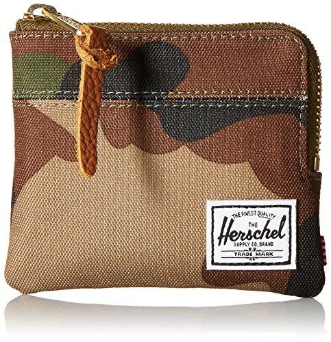 Herschel Supply Company Johnny Portamonete, Taglia 25.4 Cm (10 Pollici), Woodland Camo