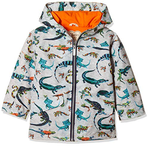 Hatley Boys Microfiber Rain Jackets Grey Rambunctious Reptile 020 Size3 Years