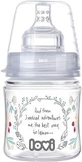 LOVI Trends Feeding Bottle Indian Summer - 120 ml - 0+ months - Anti-colic SUPER air vent system, Hard, wide, profiled tea...