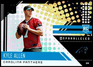 2018 Unparalleled NFL #287 Kyle Allen RC Rookie Carolina Panthers Rookie Panini Football Trading Card