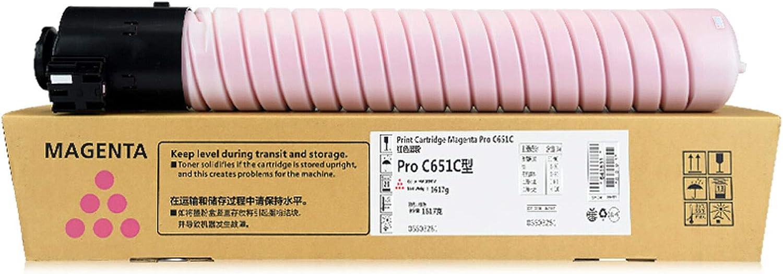 HLDC Compatible Toner Cartridge for Pro C651 Replacement for RICOH Pro C651 C651EX C751 C751EX Color Digital Copier 48500 Pages,M