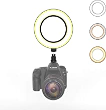 On-Camera Ring Light with Hot Shoe Mount, Camera Video...