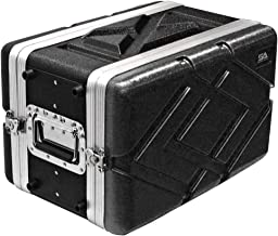 Seismic Audio - SALWR6S - Lightweight 6 Space Compact ABS Rack Case - 6U PA DJ Amp Effects Shallow Rack Case
