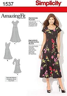 فستان نسائي ماركة Simplicity 1537 مقاس رائع مناسب للنسـاء، المقاسات 20W-28W