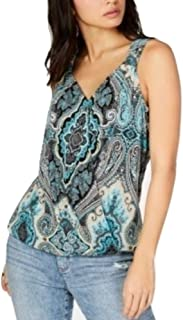 Inc International Concepts I.n.c. Printed V-Neck Tank Top, Couture Paisley M