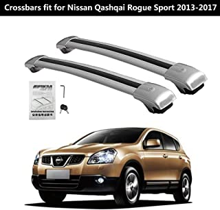 KPGDG Lockable Roof Racks Cross Bars for Nissan Qashqai Rouge Sport 2013-2017 Crossbars Baggage Luggage Rail Crossbar