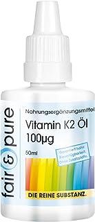 Vitamina K2 líquida 100µg - Menaquinona MK7 natural - Vegana - Alta pureza - 50ml