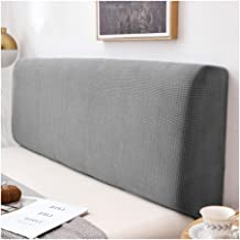Bed Headboard Slipcover Protector with Stretch Side Dustproof Super King Cotton Cover for Twin Full King (Color : Grey, Si...