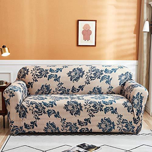 HXTSWGS Funda de sofá de Jacquard,Fundas Protectoras de sofá Impresas, para Sala de Estar Funda elástica elástica, Fundas de sofá de Esquina seccionales-Color 9_2-plazas 145-185cm