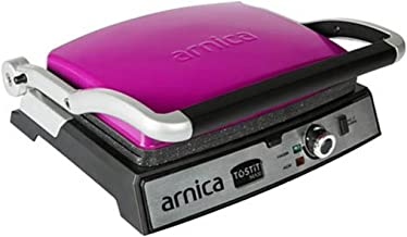 Arnica Tostit Maxi Fuşya Granit Izgaralı Tost Makinesi