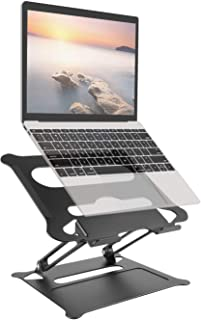 UPPERME laptopstativ, svart, justerbar vinkel med värmeventil, notebookstativ kompatibel för 10–17 tums bärbar dator, inkl...