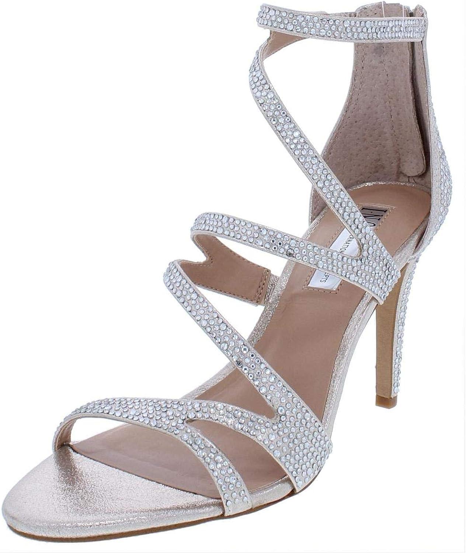 Inc Womens Regann2 Synthetic Metallic Strappy Sandals Silver 7 Medium (B,M)