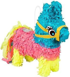 Boland 30975 Mini Pinata Donkey, Size 20 x 18 cm, Cardboard, Party Game, Animal, Gift, Children's Birthday, Decoration