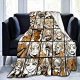 Popular Anime My Hero Academia Himiko Toga Blanket Plush Throw Lightweight Super Soft Microfiber Flannel Blankets for Bed, Couch, Sofa Ultra Luxurious Warm and Cozy for All Seasons 50'X40'