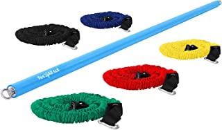 Yes4All Total Body Workout Weighted Bar, Weighted Workout Bar, Body Bar For Exercise