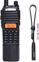 BaoFeng UV-82 Plus High Power 3800mAh DC Connector Battery 8W Dual PTT Band Transceiver Amateur Portable Two Way Radio & Tactical Antenna