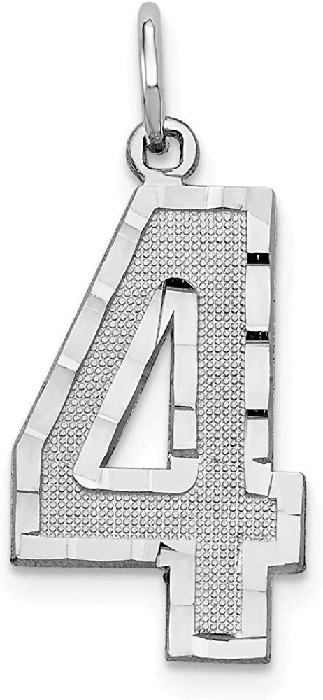 Charm Pendant 14K White Gold Super beauty product restock quality top Themed Diamond-Cut 25 11 mm 4 wholesale