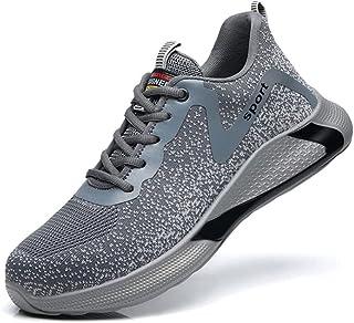 ERLINGO Chaussures de sécurité pour homme avec coque en acier - Légères - Respirantes - Antidérapantes - Résistantes à l'u...