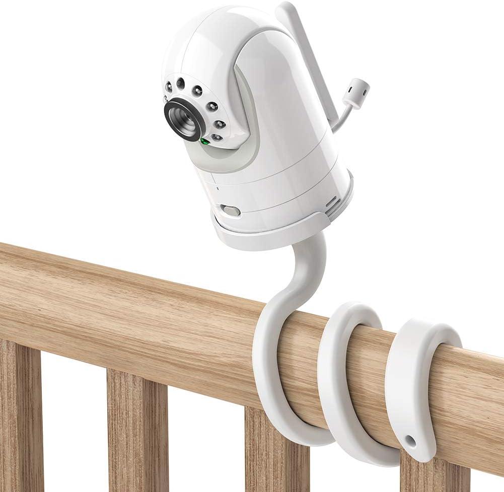Adjustable Crib Mount for Infant Optics DXR-8/PRO/Motorola Baby Monitor, Versatile for Infant Optics Baby Monitor Versatile Twist Holder Without Tools or Wall Damage(White)