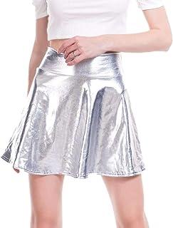 fa3792222 Amazon.es: Plateado - Faldas / Mujer: Ropa
