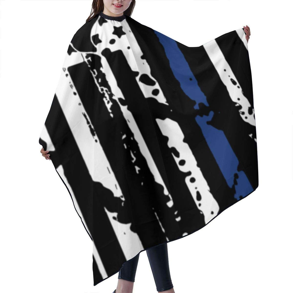 American Flag With Max 55% OFF Texas Police Blue Beauty products Cloa Cover Cape Line Barber