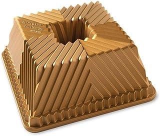 Nordic Ware 80577 Bundt - Sartén cuadrada, talla única, color dorado
