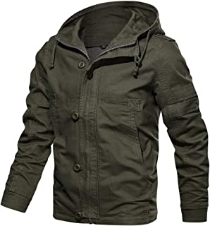 Men's Autumn Winter Tops Outwear Pure Color Hoodie Breathable Washing Jacket Coat