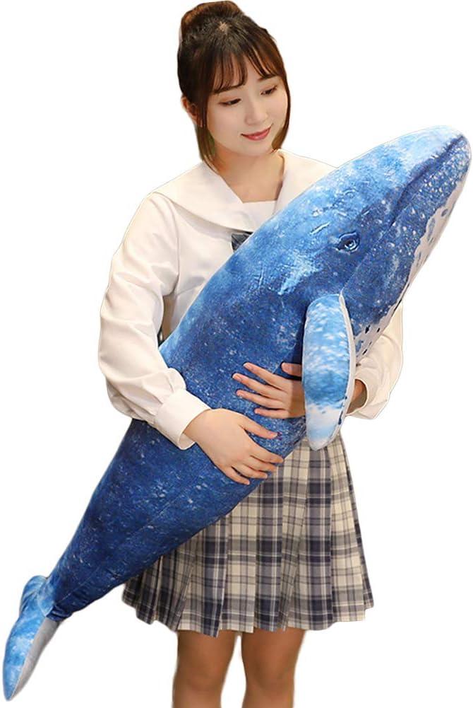 Whale Stuffed Super special price Animal Blue Shark Super intense SALE Ocean Hug Plush Pillow St