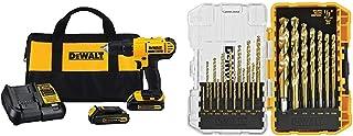 DEWALT 20V MAX Cordless Drill / Driver Kit, Compact,...
