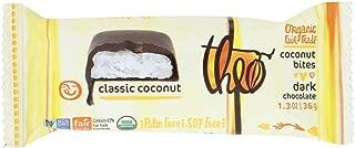 Theo Chocolate Organic Coconut Bites - Dark Chocolate Classic Coconut - 1.3 Oz - Case Of 12