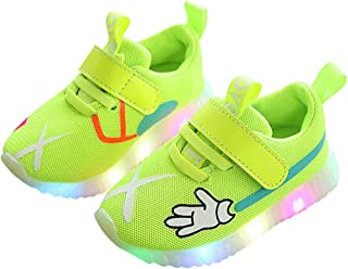 b4ebf63e650c BININBOX Kids Casual Light Up Shoes Breathable Mesh LED Sneakers for Girls  Boys