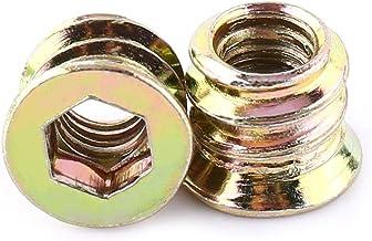 20 stks Carbon Steel Hex Socket, Drive Insert Nuts, Hex Drive Head Nut, Schroefdraad Voor Houten Meubels, Verzinkt Koolsto...