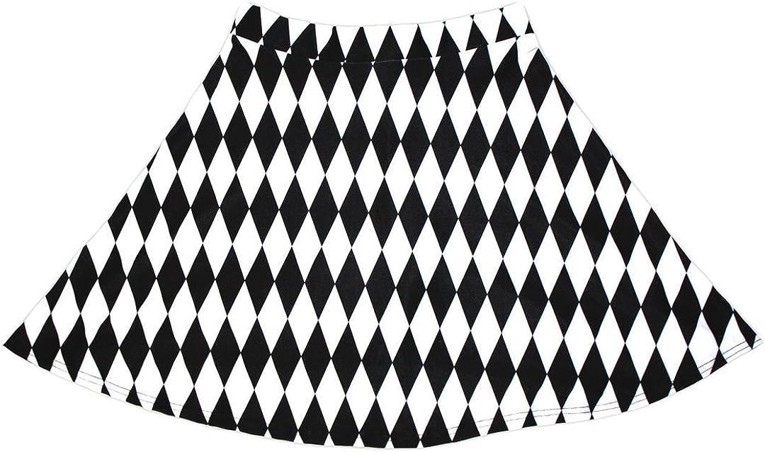 Insanity Womens Harlequin Diamonds Print Skater Skirt