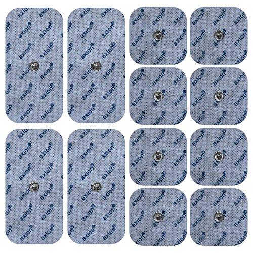 12er Misch-Set Elektroden-Pads - passt zu EMS- & TENS-Geräten von Sanitas & Beurer