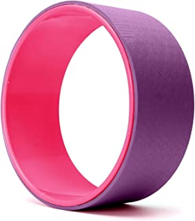FEGSY Yoga Wheel for Women and Men with Soft Thick Cushion for Stretching, Hold Poses, and Flexibility. (12.5 Inch)