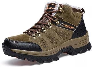 Asifn Hommes Femme de Chaussures Bottes Neige Hiver Randonnée Imperméable Boots Bottines Fourrure Trekking Chaudes Plein A...