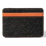 XCSOURCE Portafoglio Magico in Simili Cuoio - Magic Wallet Credit Card Holder - Porta Moneta -Arancione