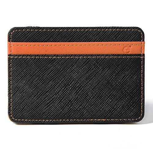XCSOURCE Portafoglio Magico in simili cuoio - magic wallet Credit Card Holder - porta moneta --Arancione