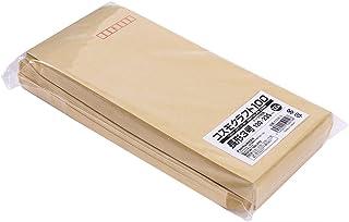 クラフト封筒 長形3号 A4ヨコ3つ折 テープ付 100枚 KCNE-3