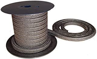 SSS165LA.187x1-V Expanded Flexible Graphite Filled PTFE Braided Packing 3//16 Cross Section Black Sterling Seal /& Supply 1 Cut Length 165LA-V.187
