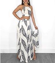 2020 Nuevo diseño de Moda Vestido de Mujer Conjunto 2 Piezas Top Corto Floral + Falda Ropa de Playa Vestido de Fiesta Dama Elegante Vestidos de Fiesta