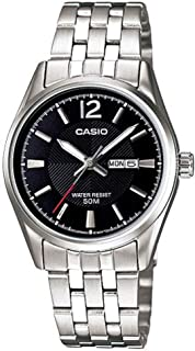 Casio Mens Quartz Watch, Analog Display and Stainless Steel Strap MTP-1335D-1A