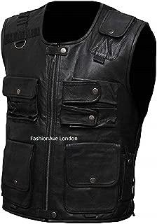 FashionAve London Men's WWE Wrestler Roman Reigns Fighter Vest 100% Real Leather